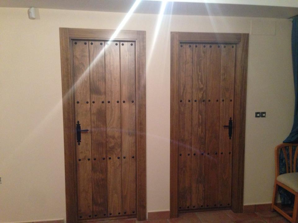 Trabajos realizados puertas de paso interior de madera - Puertas de paso rusticas ...