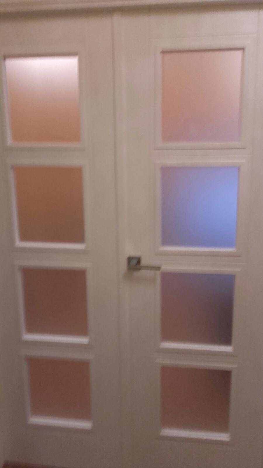 Trabajos realizados puertas lacadas blancas en granada - Cristales puertas interiores ...