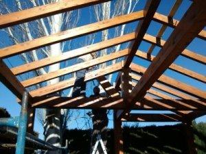 Estructura pérgola de madera