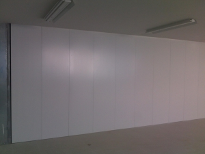 Revestimiento de pared lacado en blanco