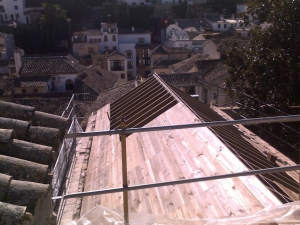 techos de madera en el albayzin Granada