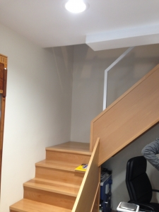 Escaleras de madera de haya