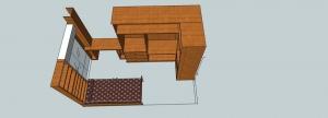 diseño de dormitorio de hogar en 3d