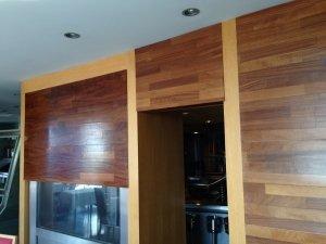 Revestimiento de pared en madera