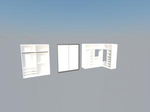 Diferentes armario en 3d