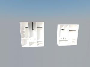 Diseño de dos armario en 3d