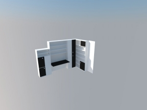 Diseño previo por ordenador de estanteria libreria
