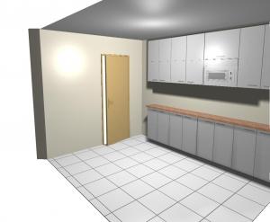 Diseño en 3d de mobiliario de cocina