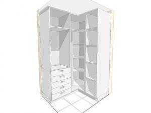 Diseño en 3d de vestidor