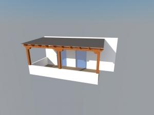 Diseñando en 3d una pérgola de madera