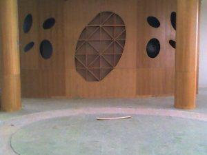 panelado de madera para hotel moderno