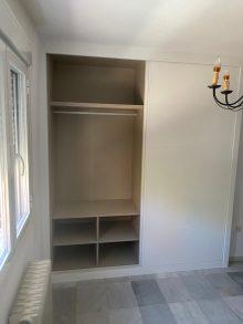 armario corredera lacado en blanco