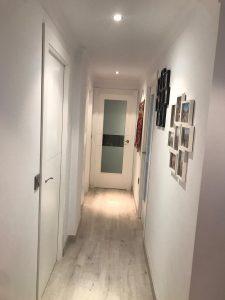 puerta lacada en blanco con vinilo