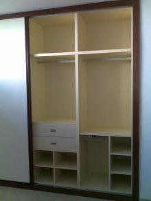 Interior de armario corredera