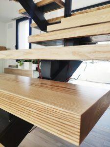 Escalones de madera maciza (1)