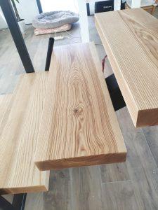 Escalones de madera maciza (4)